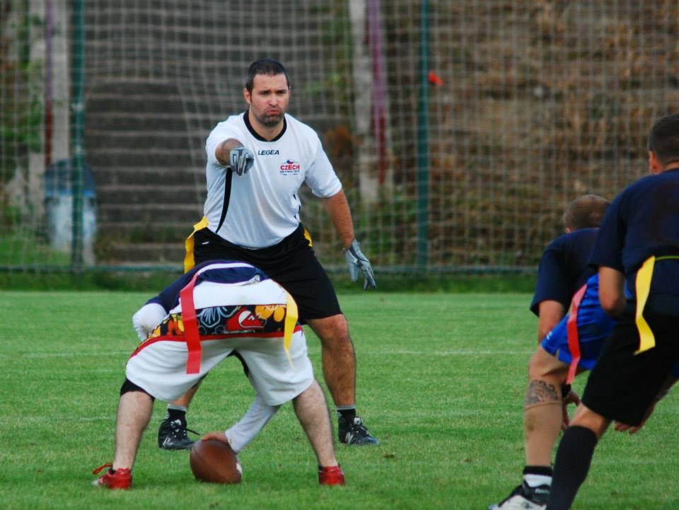 Na flagovém mistrovství se týmu Panthers 30+ tradičně daří. Na fotce Jan Šesták.