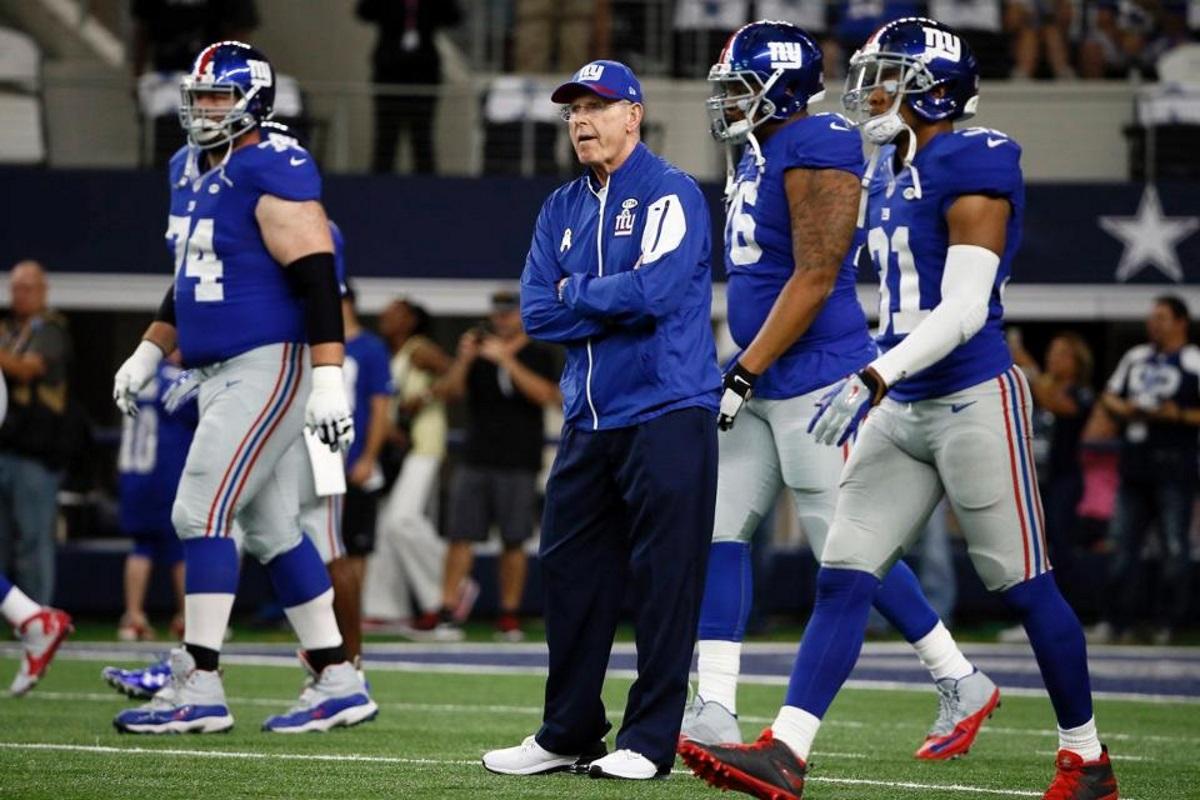 trenér Giants Tom Coughlin